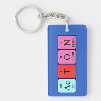 Llavero del nombre de la tabla periódica de Acton