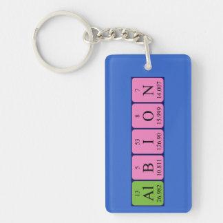 Llavero del nombre de la tabla periódica de Albion