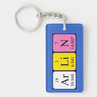 Llavero del nombre de la tabla periódica de Arlin