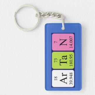 Llavero del nombre de la tabla periódica de Artan