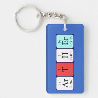 Llavero del nombre de la tabla periódica de Arther