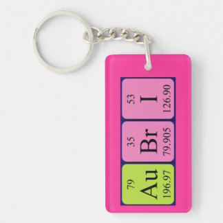 Llavero del nombre de la tabla periódica de Aubri