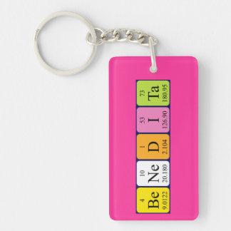 Llavero del nombre de la tabla periódica de Benedi