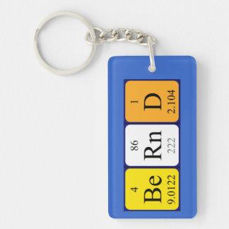 Llavero del nombre de la tabla periódica de Bernd