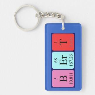 Llavero del nombre de la tabla periódica de Bert