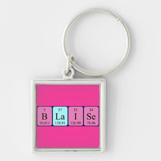 Llavero del nombre de la tabla periódica de Blaise