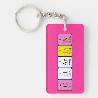 Llavero del nombre de la tabla periódica de Charli