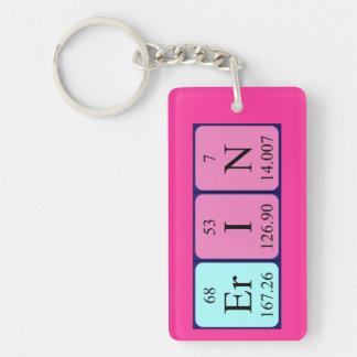 Llavero del nombre de la tabla periódica de Erin