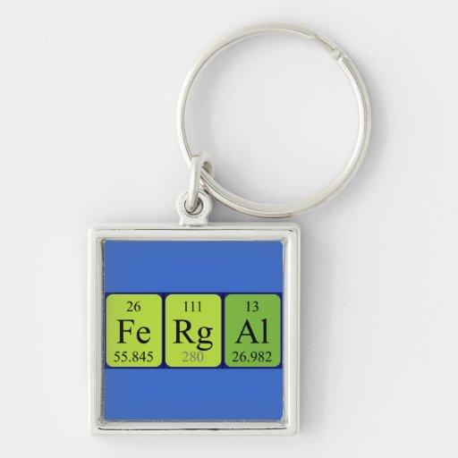 Llavero del nombre de la tabla periódica de Fergal