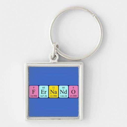 Llavero del nombre de la tabla periódica de Fernan
