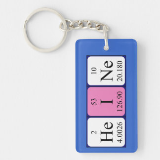 Llavero del nombre de la tabla periódica de Heine