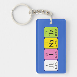 Llavero del nombre de la tabla periódica de Hinata