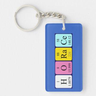 Llavero del nombre de la tabla periódica de Horaci