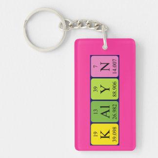 Llavero del nombre de la tabla periódica de Kalyn