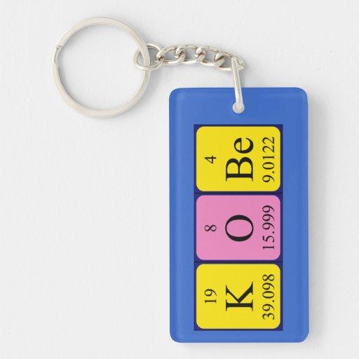 Llavero del nombre de la tabla periódica de Kobe