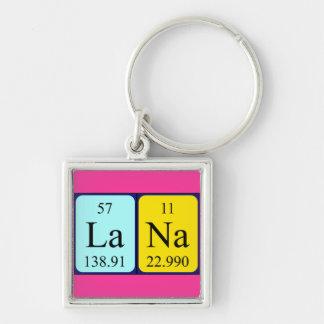 Llavero del nombre de la tabla periódica de Lana