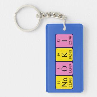Llavero del nombre de la tabla periódica de Naoki