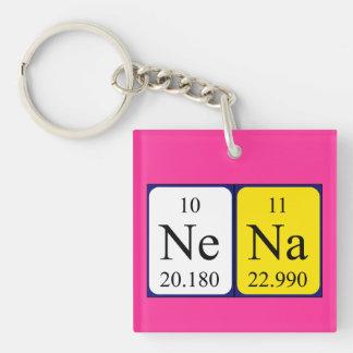 Llavero del nombre de la tabla periódica de Nena