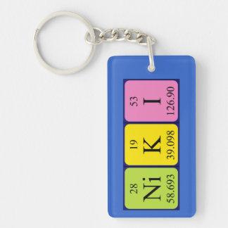 Llavero del nombre de la tabla periódica de Niki