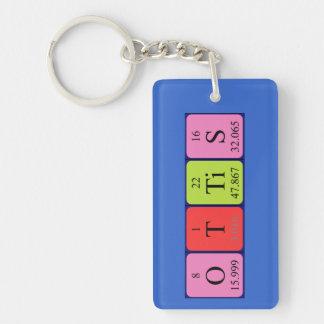 Llavero del nombre de la tabla periódica de Ottis