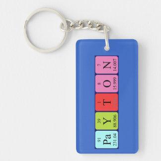Llavero del nombre de la tabla periódica de Payton