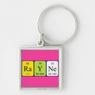 Llavero del nombre de la tabla periódica de Rayne