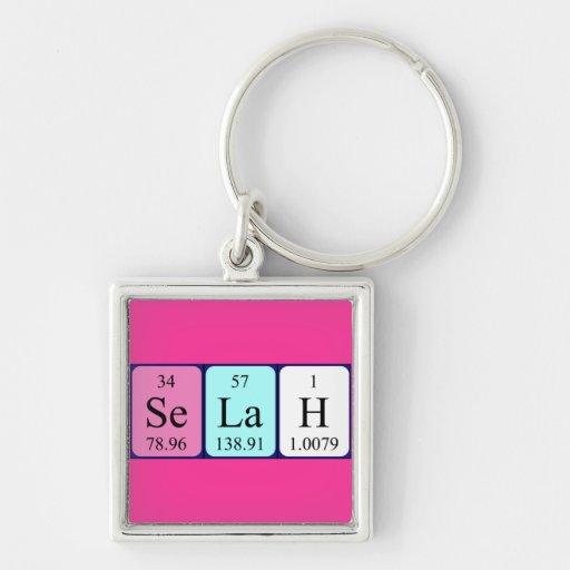 Llavero del nombre de la tabla periódica de Selah