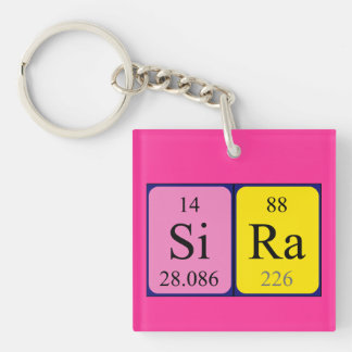 Llavero del nombre de la tabla periódica de Sira