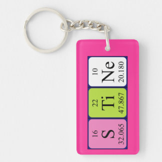 Llavero del nombre de la tabla periódica de Stine