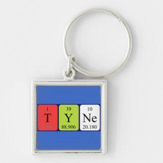 Llavero del nombre de la tabla periódica de Tyne