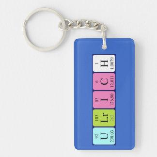 Llavero del nombre de la tabla periódica de Ulrich