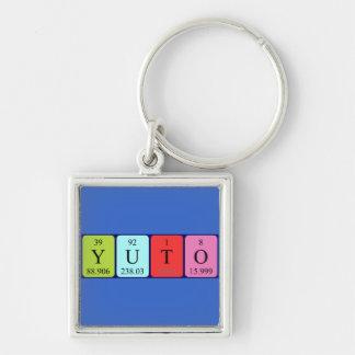 Llavero del nombre de la tabla periódica de Yuto