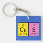 Llavero del nombre de la tabla periódica del Cas