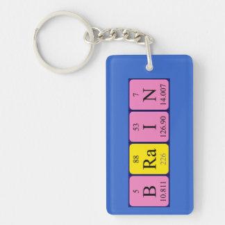 Llavero del nombre de la tabla periódica del cereb