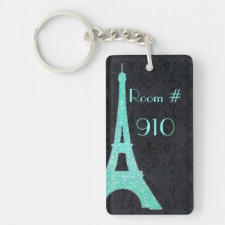 Llavero del número de la habitación de la torre