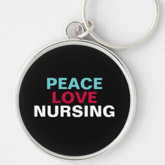 Llavero del oficio de enfermera del amor de la paz