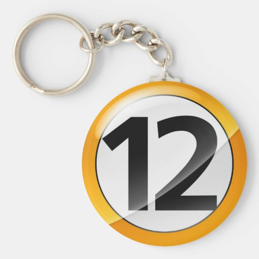Llavero del oro del número 12