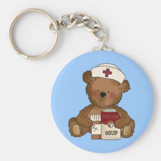 Llavero del oso de la enfermera