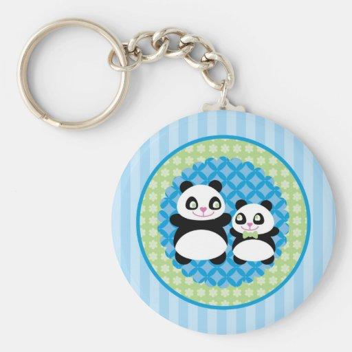Llavero del oso de panda del muchacho