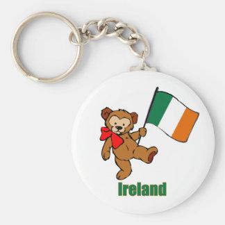 Llavero del oso de peluche de Irlanda