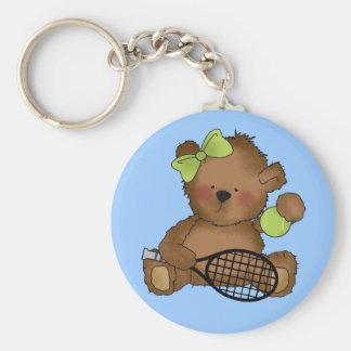 Llavero del oso del tenis