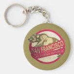 Llavero del oso del vintage de San Francisco