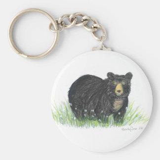 llavero del oso negro