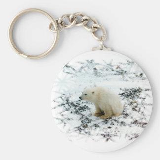llavero del oso polar del bebé