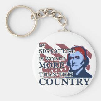 Llavero del país de la firma de Thomas Jefferson