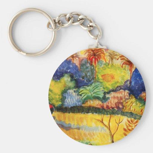 Llavero del paisaje de Gauguin Tahitian
