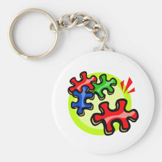 Llavero del pedazo del rompecabezas del autismo