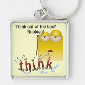 Llavero del pensar-hacia fuera-de--box del dibujo