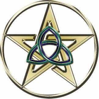 Llavero del Pentagram de Triquetra Escultura Fotográfica