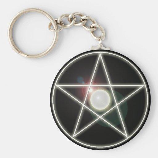 Llavero del Pentagram que brilla intensamente 2